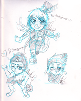 Chibi Requests: Toby, Jason and Jasmin? by CloudKiller7