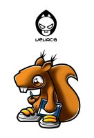 Vevrca squirrel mascote logo by anzeversnik