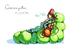 Alice project, caterpillar by dolls-of-paradox