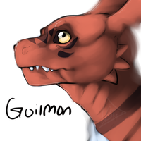 Guilmon by ClubsOfMeloncholy