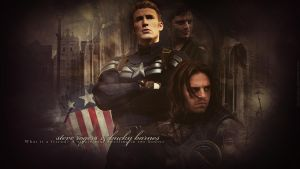 Captain America - Steve Rogers and Bucky Barnes by LissVelaskes