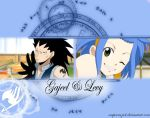 Gajeel and Levy wallpaper by ReaperRaziel