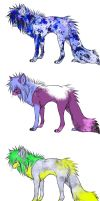 Free Scene Wolf Adoptables -CLOSED- by KalicoKitty