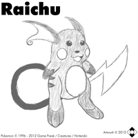 Raichu Digital Sketch by NS-Games