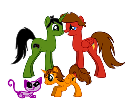 Family kvk pony version by LittleThingsCxD