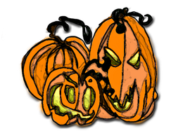 Creepy pumpkins by FoxiArtist
