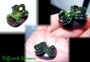 Andamooka Opal Spider Carving by jessa1155