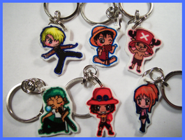One Piece Charm Keychains by IcyPanther1