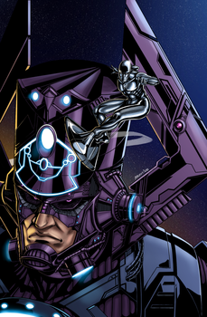 Galactus and Silver Surfer Colors by AustinToya