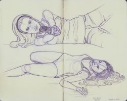 Lying Down Poses by crushing83