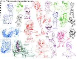 1st Year Sketchdump by kimchii