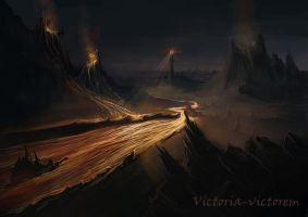 The Lord of the Rings. Mordor by Victoria-victorem