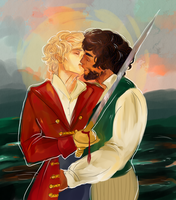Enjolras/Grantaire pirate AU by imjusthereforref