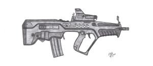 Tavor CTAR-21 - Art Trade by CzechBiohazard