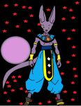 Beerus  ready to do his job by 9taileDemonKing