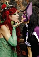 Poison Ivy-steampunk vers. (with The Huntress)- by Daisy-Cos