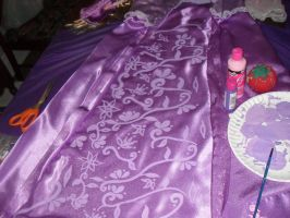 Rapunzel Skirt Inside Panel by WickedLover010