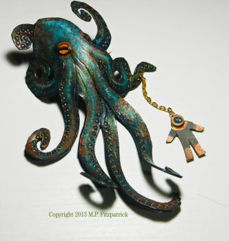 Octopus with Diver hair slide by MPFitzpatrick