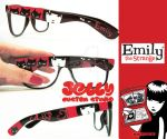 Emily the Strange Glasses by PoppinCustomArt