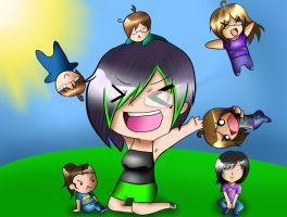 Me and mah friends by PartyRockingPikachu