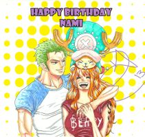 zn:Happy BirthDay Nami by debby-san