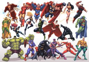 JLA/Avengers Color by logicfun