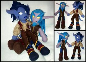 WoW Plushies-Umara and Belodir by Threnodi
