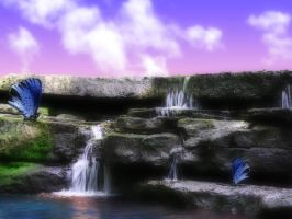 ButterFly Falls by SmokeyLittleClover