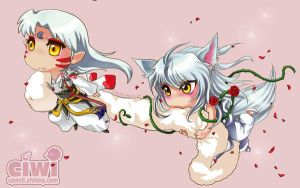 Sesshomaru  and Youko BY CIWI by DYKC