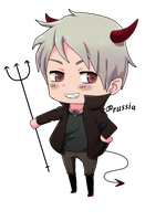 Hetalia- Prussian Demon by Zerucune