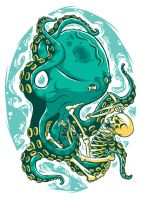 skull and octopus by drud-studio