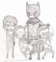 Bat Family Chibis by Nashiil