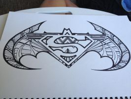 Superman batman wonder woman symbol Design. by DrawMEGA