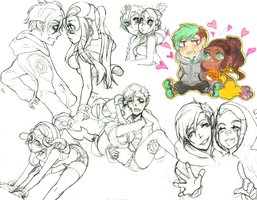 REVE N POOKIE SKETCH DUMP by 13on13on