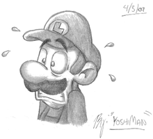 Shaded Luigi by YoshiMan1118