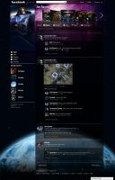 Facebook Starcraft II Layout by mlvnsnmgl