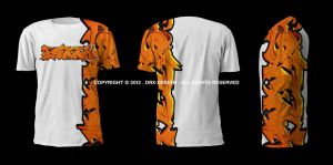 Isaak Graffiti T-shirt by DRX-Design