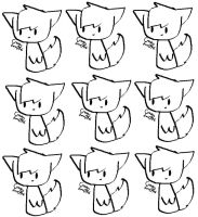 9 FREE CAT LINEARTS!! by Crazyfox346