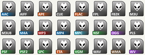 Foobar File Icons by Baka9999