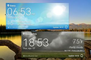 LG G Tab Weather Widgets HD for xwidget by jimking
