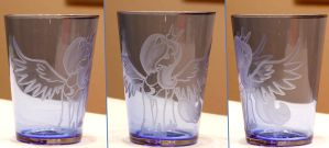 'Hija de la Luna' engraving on Glass by rtry