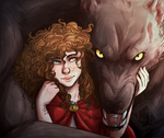 Little Red Riding Hood and Her Wolf by MissThunderkin