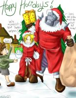 Full Metal Alchemist Christmas by kace353