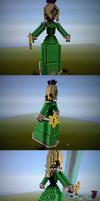 Minecraft Rosalina Statue by SurgeCraft