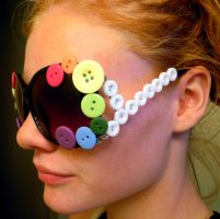 Button Sunglasses by Ryannethelion