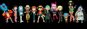 One Piece Chibi by aku-no-hana2