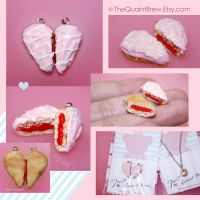 Heart Jelly Doughnut Pendants by kalos-eidos-skopein