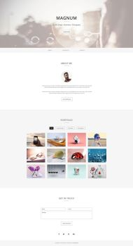 Magnum - Free Personal Portfolio Template by templatewire