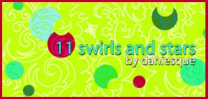 Photoshop CS2 Swirls and Stars by daniesque