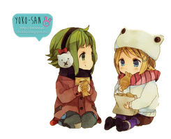 Gumi and Rin Kids by Momo-Honey